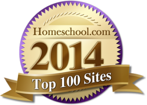Chosen as one of Homeschool.com's top 100 sites of 2014