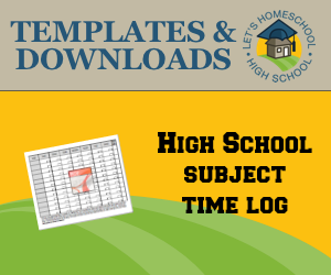High School Subject Time Log