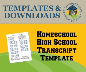 Homeschool High School Transcript Template