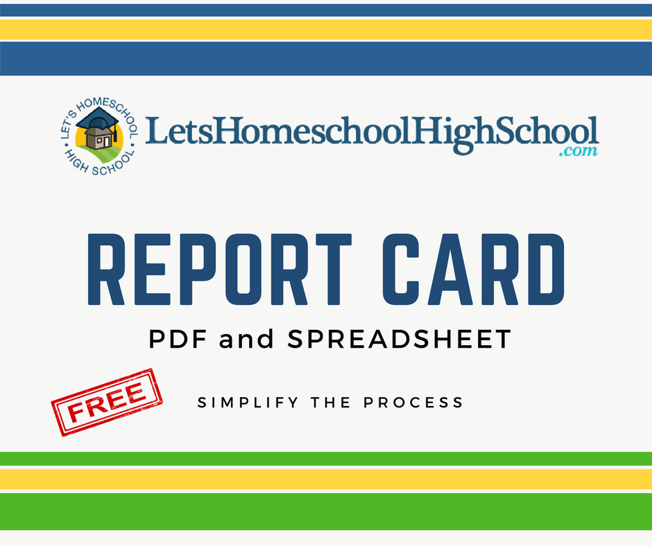 download homeschool high school report card template