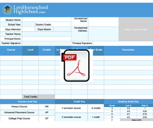 report card templates