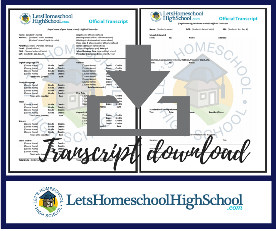 high school transcript template homeschool | trattorialeondoro