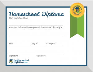 Effortless image pertaining to printable home school diploma