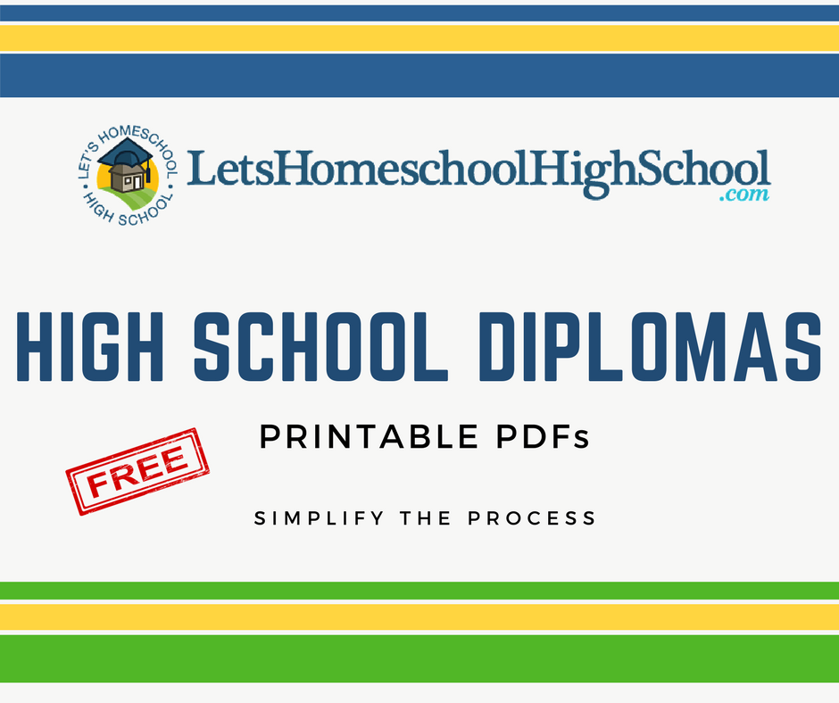 download homeschool high school diploma templates
