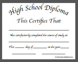 high school diploma template doc 1
