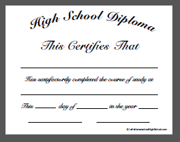 High School Diploma Template Doc 2