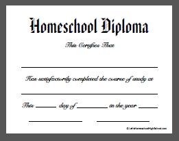 Old Fashioned image within printable home school diploma
