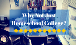 Why Not Just Homeschool College-
