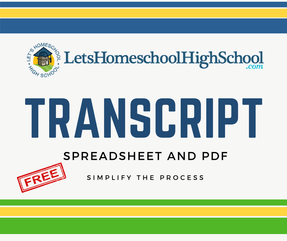 Download High School Transcript Template Letshomeschoolhighschool Com