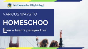 Various Ways to Homeschool from a Teen's Perspective