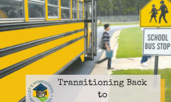 Transitioning Back to Traditional School