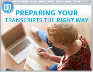 Step by step instructions on preparing a high school transcript!