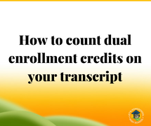 Adding dual enrollment credit to transcripts
