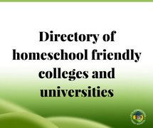 Directory of Homeschool Friendly Colleges and Universities
