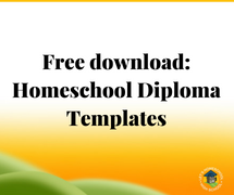 Homeschool Diploma Templates