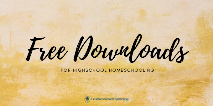 Free Downloads for homeschooling